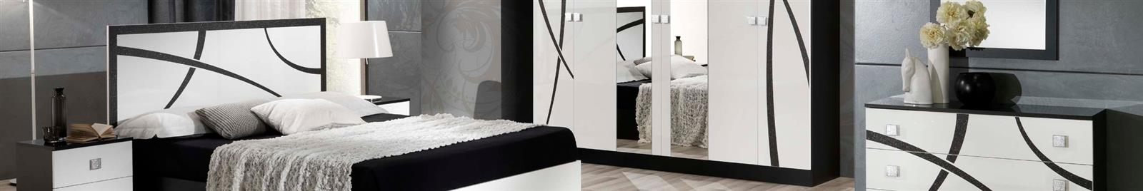 Milano White & Black - Modern Bedroom Furniture
