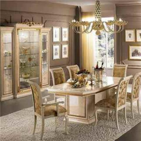 Classic modern italian dining for Italian dining room sets