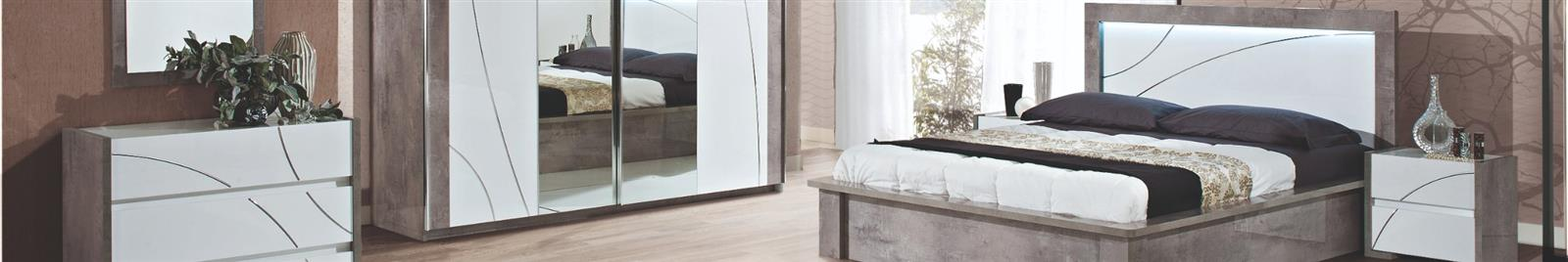Milano Grey Highgloss - Bedroom