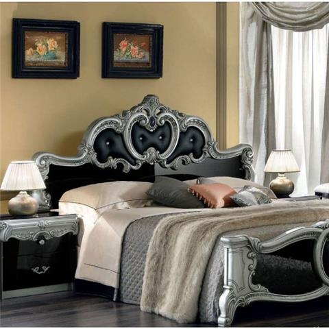 Barocco Black & Silver Range - Italian Bedroom Furniture
