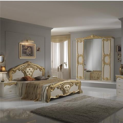 Cristina Beige & Gold - Classic Italian Bedroom Furniture
