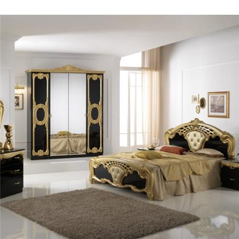 Cristina Black & Gold -  - Classic Italian Bedroom Furniture