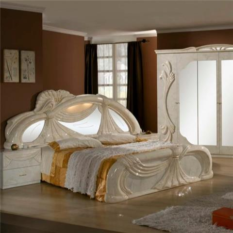 Gina Beige & Marble - Classic Italian Bedroom Furniture