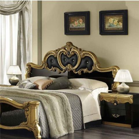 Barocco Black & Gold Range - Italian Bedroom Furniture