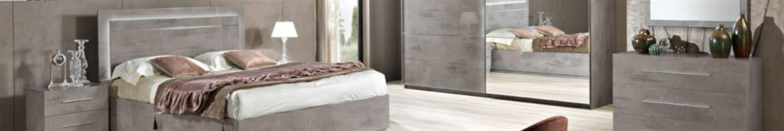 Star  - High Gloss Grey - Italian Bedroom Furniture