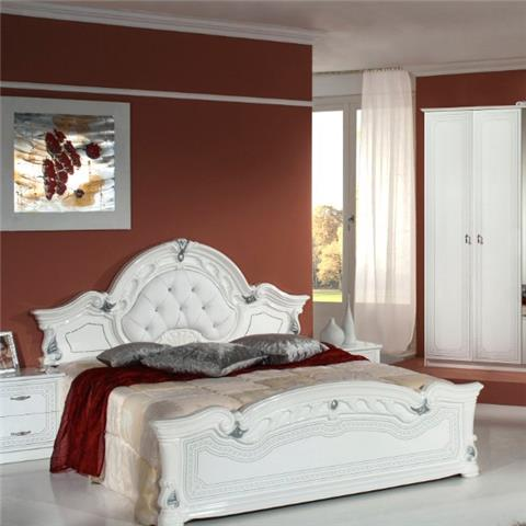 Stella White & Silver - Classic Italian Bedroom Furniture