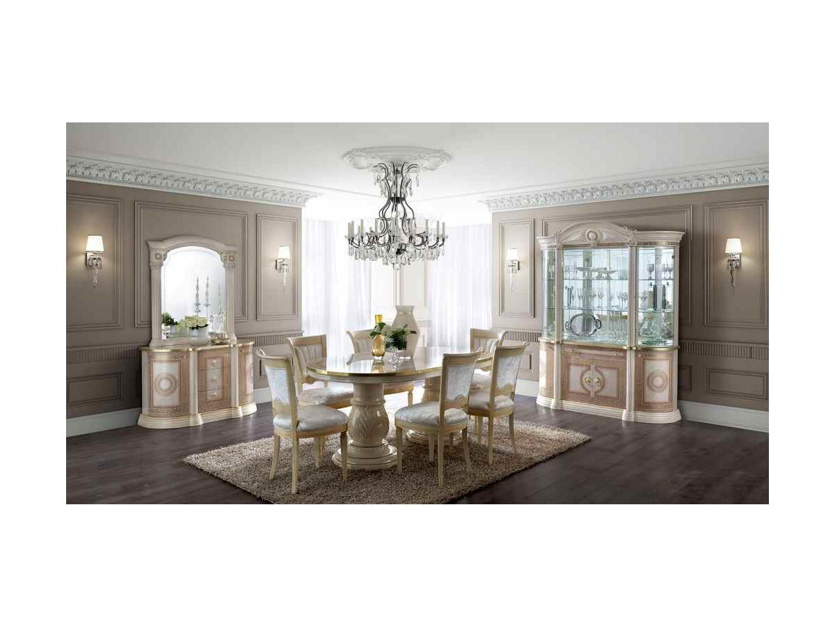 Aida Cream Amp Gold Dining Table Amp 6 Chairs