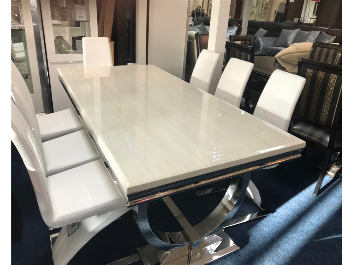 Arianna Marble Dining Table