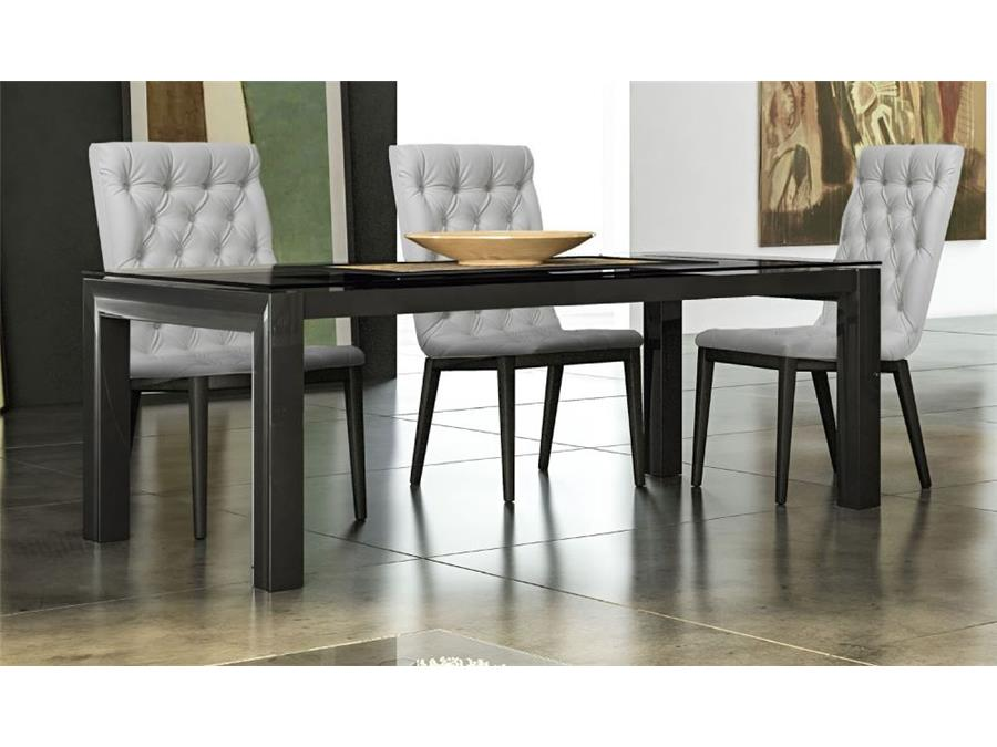 Star Furniture Dining Table: LA Star Black High Gloss Dining Table And 6 Chairs