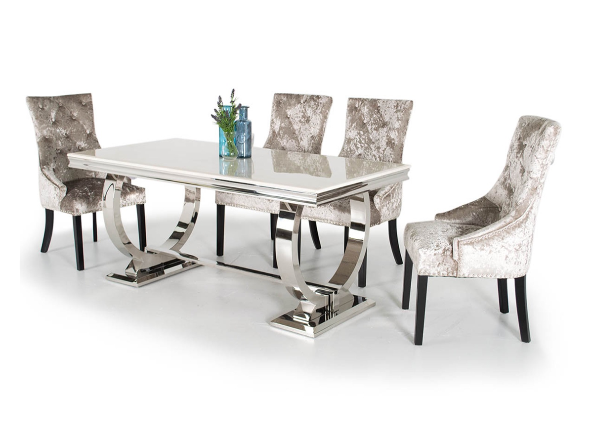 Marbledining Large Dining Table Chairs Sale London