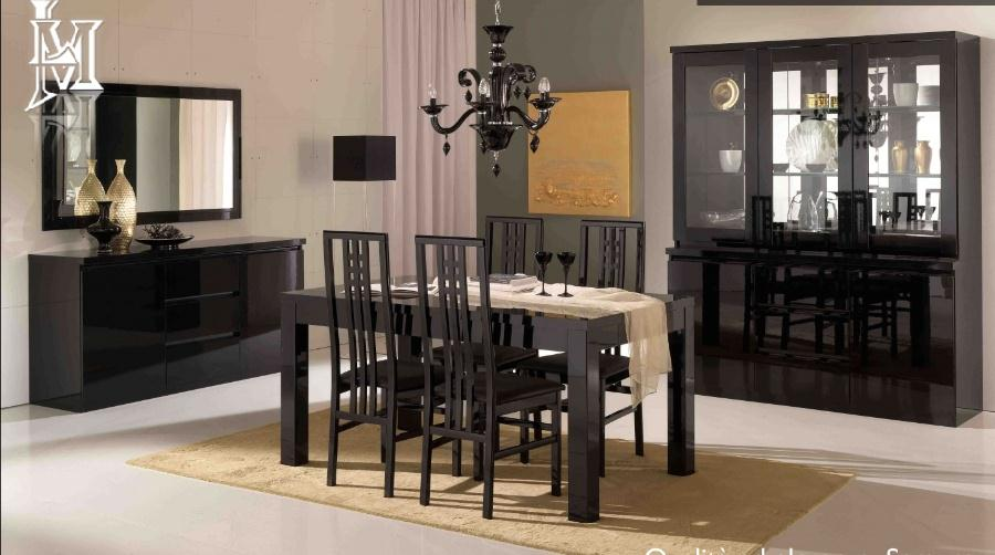 Roma High Gloss Dining Table 4 Chairs