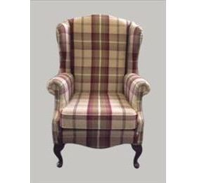 Jade The Manor Large Tartan Wing Chair