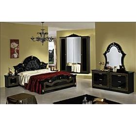 Stella Italian Black & Gold 4 Door Bedroom Package