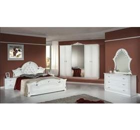 Stella Italian White 6 Door Bedroom Package