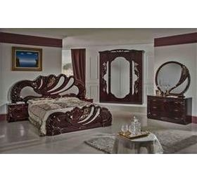Vanity Italian Mahogany 4 Door Bedroom Package