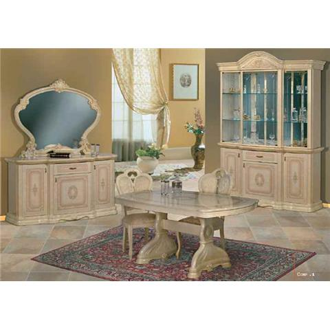 Amalfi Cream & Gold Dining Table & 6 Chairs