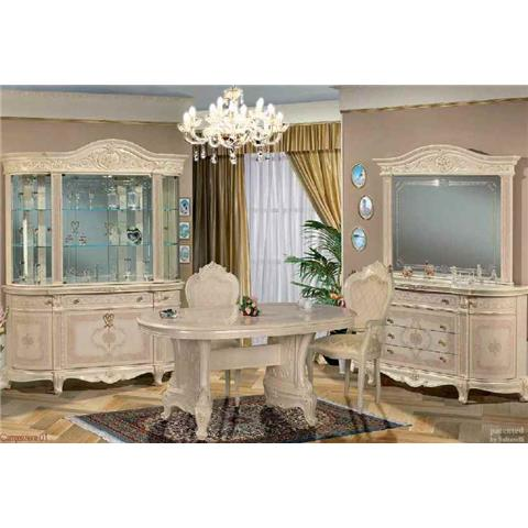 Versailles Italian Cream 4 Door Glass Unit