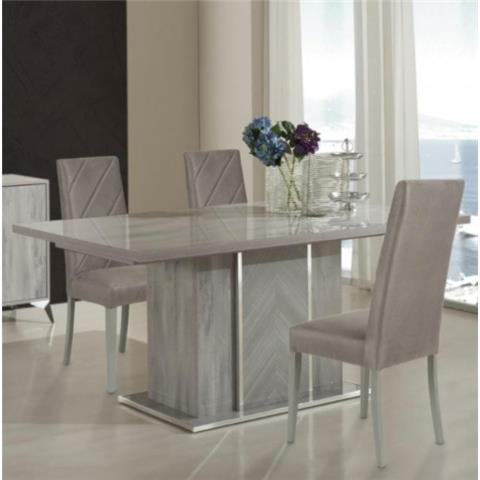 H2O DESIGN ALEXA LIGHT GREY GLOSSY EXTENDABLE TABLE