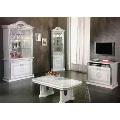 Venus White & Silver 2 Door Wall Unit