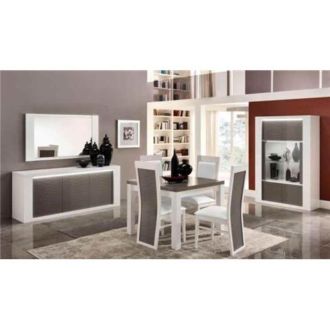 Venezia Grey & White Highgloss 2 Door Wall Unit
