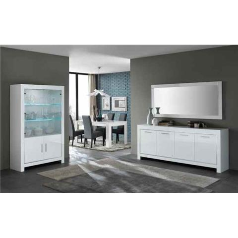 Modena Highgloss White 2 Door Wall Unit