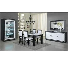 Prestige Black + White Highgloss Dining Collection