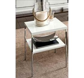 Dama  White Highgloss Lamp Table
