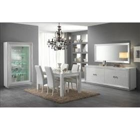 Silver White Highgloss Dining Room Collection