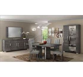 Sarah Highgloss Grey Birch Complete Dining Room Collection