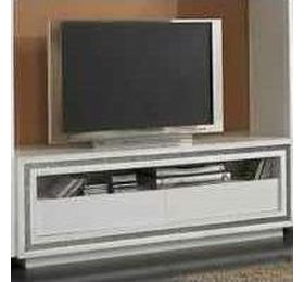 Prestige White Diamante Plasma TV Unit