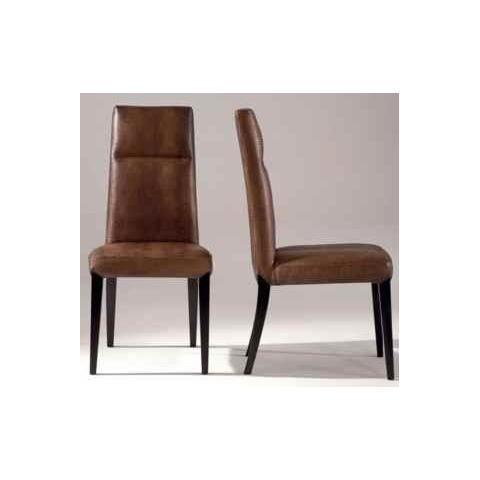Stone International Cloe Leather Dining Chair with Wenge Legs