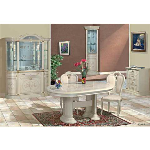 Florence Italian Cream 4 Door Wall Unit
