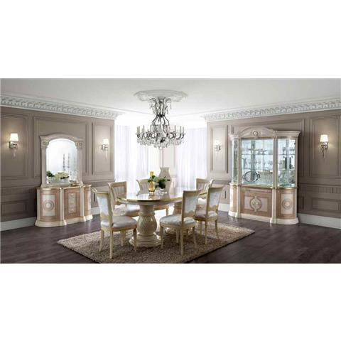 Aida Cream U0026 Gold Dining Table U0026 6 Chairs