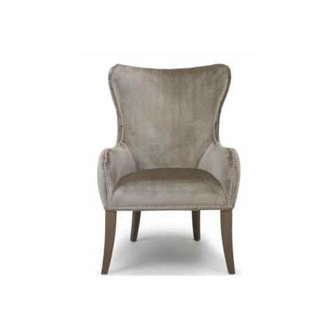Shankar Natural Silken Fabric Mercer Chair