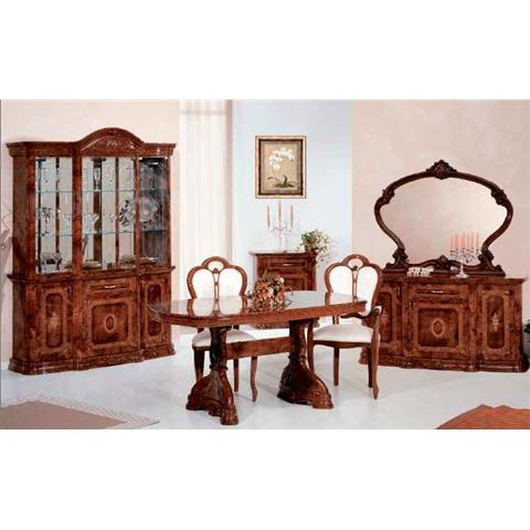 Amalfi Italian Walnut Dining Table & 6 Chairs
