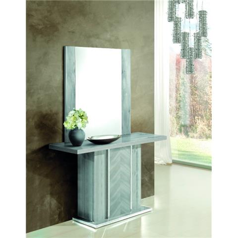 H2O DESIGN ALEXA LIGHT GREY GLOSSY CONSOLE TABLE