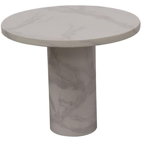 Vida Living Carra Bone White Marble Lamp Table