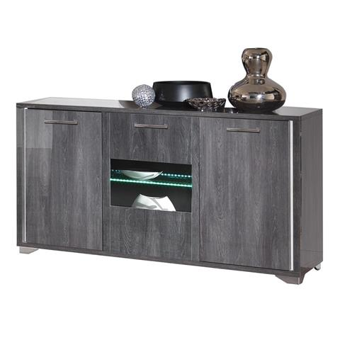 SAN MARTINO ARMONY GREY 3 DOOR SIDEBOARD WITH LED LIGHTS