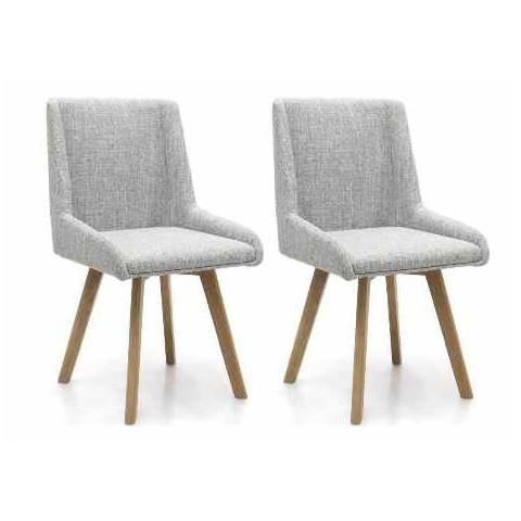 Shankar Skandi Grey Weave Dining Chair (Pair)