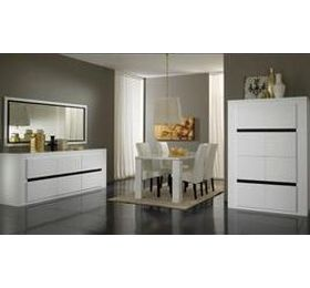 Tania White Highgloss Dining Room Collection