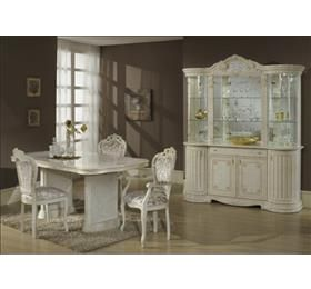 Elizabeth H20 rectangle dining table and 6 chairs in cream