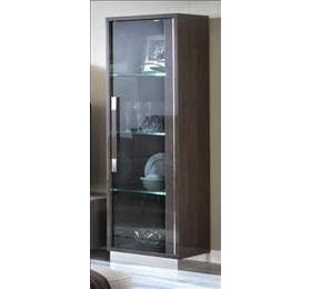 Platinum Italian Highgloss Grey 1 Door Vitrine