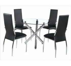 CALDER ROUND GLASS DINING SET