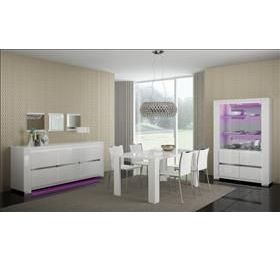 Elegance Highgloss White Dining Range 2 door wall unit