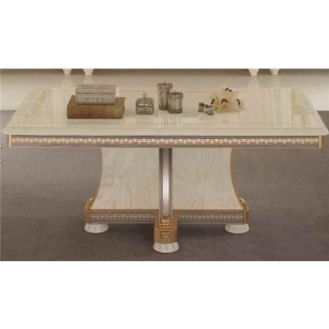 Arredoclassic Liberty Ivory with Gold Italian Coffee Table