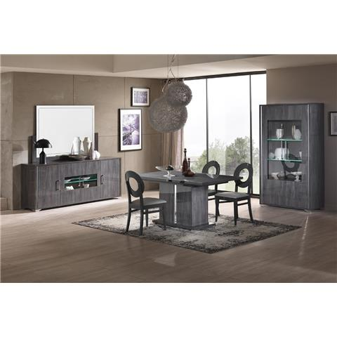 SAN MARTINO ARMONY GREY EXTENDING DINING SET & 4 CHAIRS