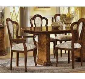 Milady Walnut Italian Dining Set - Extending with 6 Chairs
