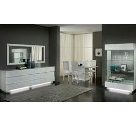 Lux White Highgloss Dining Room Collection