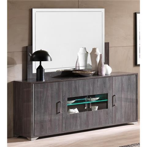SAN MARTINO ARMONY GREY 4 DOOR SIDEBOARD WITH LED LIGHT