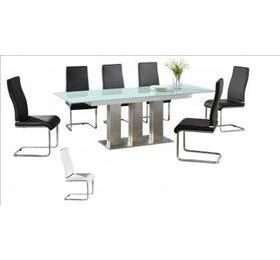 CARA EXTENDING GLASS DINING SET